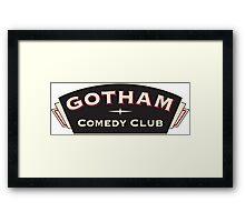 Comedy Gotham Framed Print