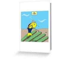 Fish Farmer farming a Fish Farm Greeting Card