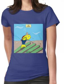 Fish Farmer farming a Fish Farm Womens Fitted T-Shirt