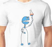 Funny Cartoon Robot Chemist Unisex T-Shirt