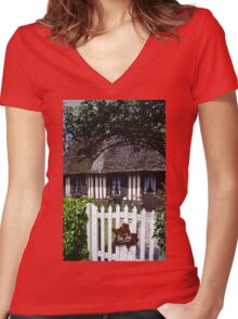 Paysages Normandie LOVE  landscapes 20 (c)(h) canon eos 5 by Olao-Olavia / Okaio Créations   1985 Women's Fitted V-Neck T-Shirt
