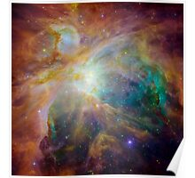 Hubble Space Telescope Print 0038 - Spitzer and Hubble Create Colorful Masterpiece - hs-2006-01-q-full_jpg Poster