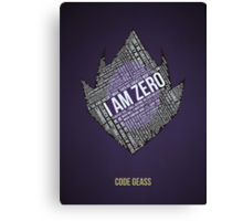 Code GEASS Typography Canvas Print