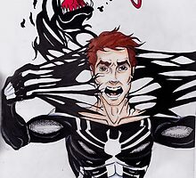 Peter Parker vs. Venom by Kirsten Schultz