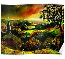 autumn in our ardennes belgium Poster