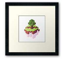 Minecraft Simple Floating Island - Isometric Framed Print