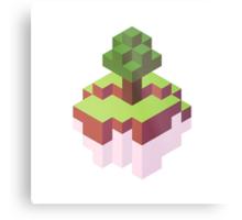 Minecraft Simple Floating Island - Isometric Metal Print