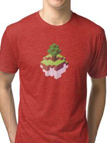 Minecraft Simple Floating Island - Isometric Tri-blend T-Shirt