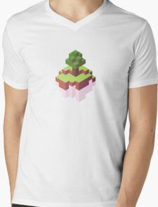 Minecraft Simple Floating Island - Isometric Mens V-Neck T-Shirt