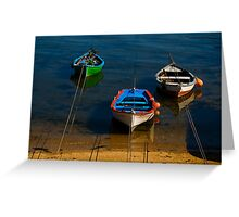 moorings, Costa da Morte, Galicia Greeting Card