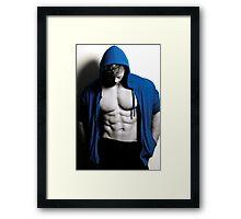 Blue Cover Framed Print