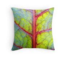 Rainbow leaf (II) Throw Pillow