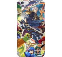 Super Smash Bros - Lucina, Robin, Pikachu, Mario, Luigi, Megaman, Captain Falcon, Kirby, Link, Peach, Charizard iPhone Case/Skin