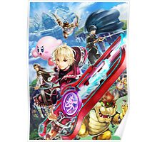 Super Smash Bros - Shulk, Kirby, Bowser, Marth, Ike Poster