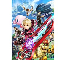 Super Smash Bros - Shulk, Kirby, Bowser, Marth, Ike Photographic Print
