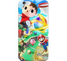 Super Smash Bros - Villager, Mario, Kirby, Link iPhone Case/Skin