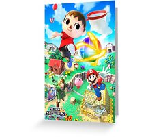 Super Smash Bros - Villager, Mario, Kirby, Link Greeting Card