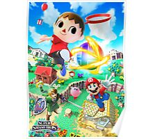 Super Smash Bros - Villager, Mario, Kirby, Link Poster