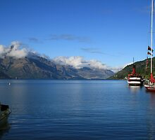 Lake Wakatipu from Queenstown Harbour. by DRWilliams
