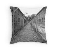 Barbed wire fence ( auschwitz ) Throw Pillow