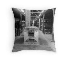 interior of living quarters ( Birkenau ) Throw Pillow