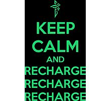 Keep Calm and Recharge (ENL) Photographic Print