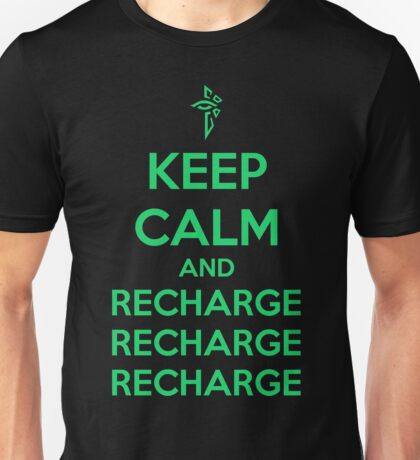 Keep Calm and Recharge (ENL) Unisex T-Shirt