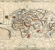1513 World map by Martin Waldseemüller by paulrommer