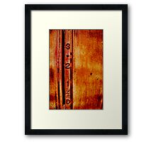 petrol bowser Framed Print