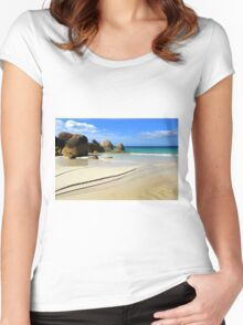 Waterloo Bay, Wilsons Prom NP Women's Fitted Scoop T-Shirt