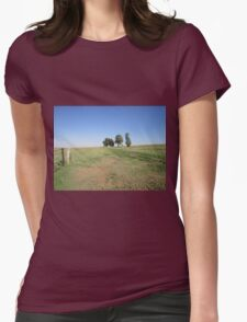 Trees and fence Womens Fitted T-Shirt