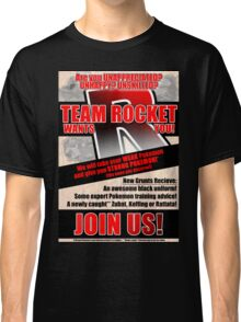 Pokemon - Team Rocket Recruitment Classic T-Shirt
