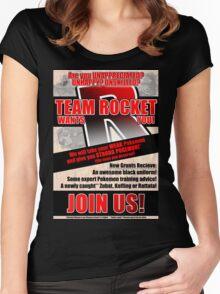 Pokemon - Team Rocket Recruitment Women's Fitted Scoop T-Shirt