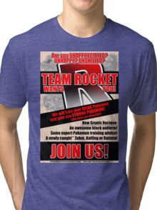 Pokemon - Team Rocket Recruitment Tri-blend T-Shirt