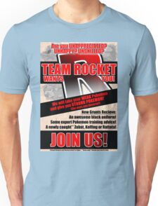 Pokemon - Team Rocket Recruitment Unisex T-Shirt