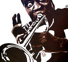 Louis Armstrong by Antonio Méndez Díaz