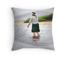 Salt Water Fly Fishing Throw Pillow
