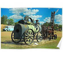 Old Steam Engine Poster