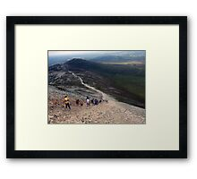 Descending Croagh Patrick Framed Print