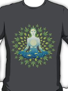 Young woman practicing meditation 3 T-Shirt