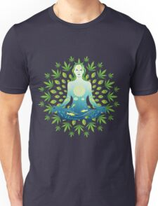 Young woman practicing meditation 3 Unisex T-Shirt