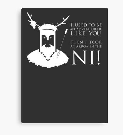 Arrow in the NI! Canvas Print