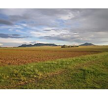 Field and hill Photographic Print