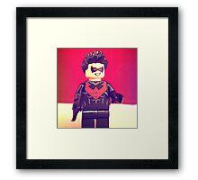 Lego Nightwing Framed Print