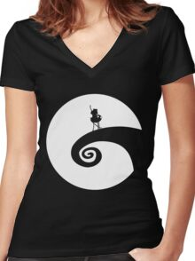 The Nightmare Before the Adventure Women's Fitted V-Neck T-Shirt