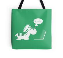Programming zebra Tote Bag