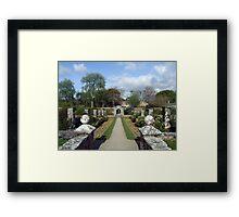 Dromoland walled garden Framed Print