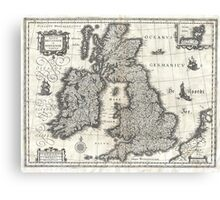 1631 Map of the British Isles by Joan Blaeu Canvas Print