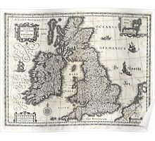 1631 Map of the British Isles by Joan Blaeu Poster