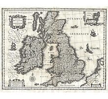 1631 Map of the British Isles by Joan Blaeu Photographic Print